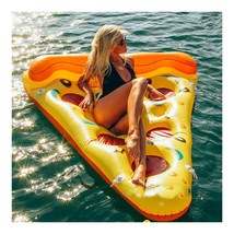 Inflatable Pizza Floating Bed Floating Mat Row - $77.99