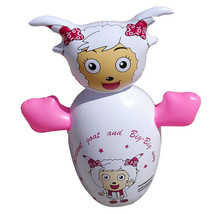 Inflatable Toy 90cm Large Tumbler Thick Cartoon    pink sheep - $26.99