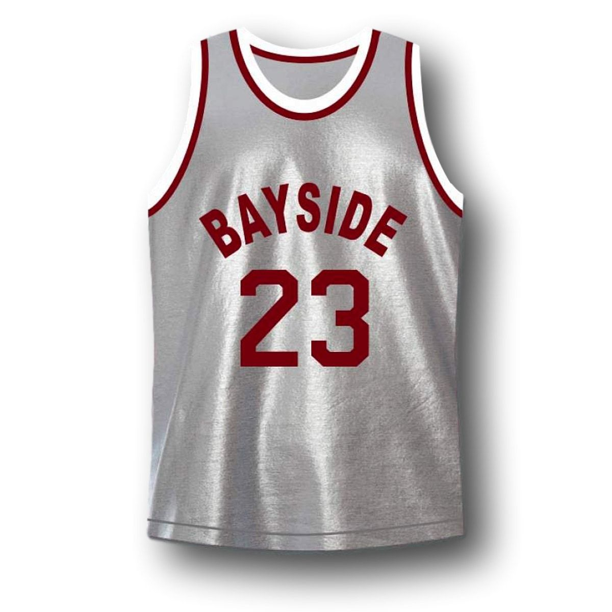 AC Slater #23 Bayside Saved By The Bell Basketball Jersey Grey Any Size