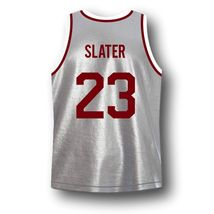 AC Slater #23 Bayside Saved By The Bell Basketball Jersey Grey Any Size image 2