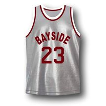 AC Slater #23 Bayside Saved By The Bell Basketball Jersey Grey Any Size image 4