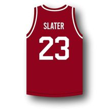 AC Slater #23 Bayside Saved By The Bell Basketball Jersey Maroon Any Size image 2