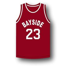 AC Slater #23 Bayside Saved By The Bell Basketball Jersey Maroon Any Size image 4