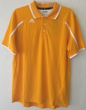 Mens Adidas ClimaLite Button Up Gold Yellow Short Sleeve Polo Size Medium * NWT* - $14.84
