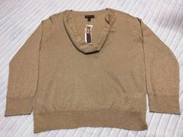 NWT Women's Dana Buchman Gold Metallic Rayon Blend Shirt, Size XL - $29.99