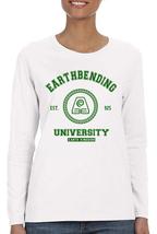 Earthbending Univeristy Avatar Kora Eng Women tee Long Sleeve WHITE - $21.50+