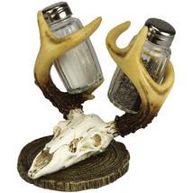 Decorative Resin Deer Skull With Antlers Salt A... - $14.97