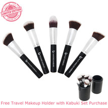 5 Piece Kabuki Makeup Brush Set with Brush Holder by Beauty Junkees - $35.00