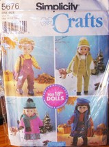 "Pattern 5676 Fleece Outerwear for 18"" Dolls such as American Girl - $5.95"