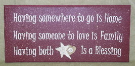 1S14H3 Having Both is Blessing Primitive Wood Sign  - $13.95