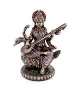 "SARASWATI WITH SWAN STATUE 8.5"" Hindu Goddess of Knowledge HIGH QUALITY NEW - $79.88"