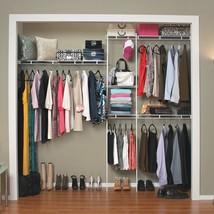 Closet Organizer Kit Storage Shelving System Wardrobe Clothes Shelf 5 to... - €83,31 EUR