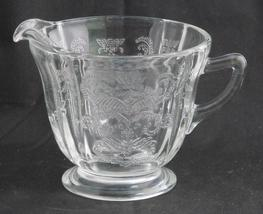 Indiana Glass Recollection ~ Clear Glass Creamer ~ Madrid Reproduction - $15.95
