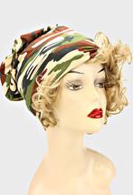 Brown Camo Military Pattern Slouchy Beanie Cap Hat S94082 - $192,04 MXN