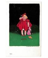 "Crying Girl w Broken Headless Doll ""Feeling"" Vintage 1906 Ullman Postcard - $6.69"