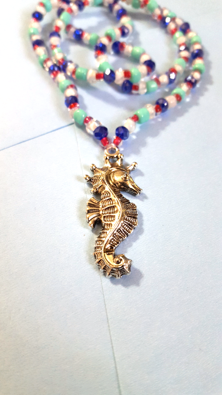 seahorse beaded necklace necklaces pendants