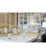 Clear Crystal Glass Dragon Eye Lamp Prisms Part Decoration Pendant 50mm*... - $2.60