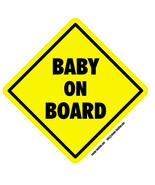 Baby on Board self cling window sticker 14cm road safety motoring car si... - $4.92