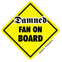 Damned Fan on Board self cling vinyl window sticker punk Ramones Sex Pis... - $4.50