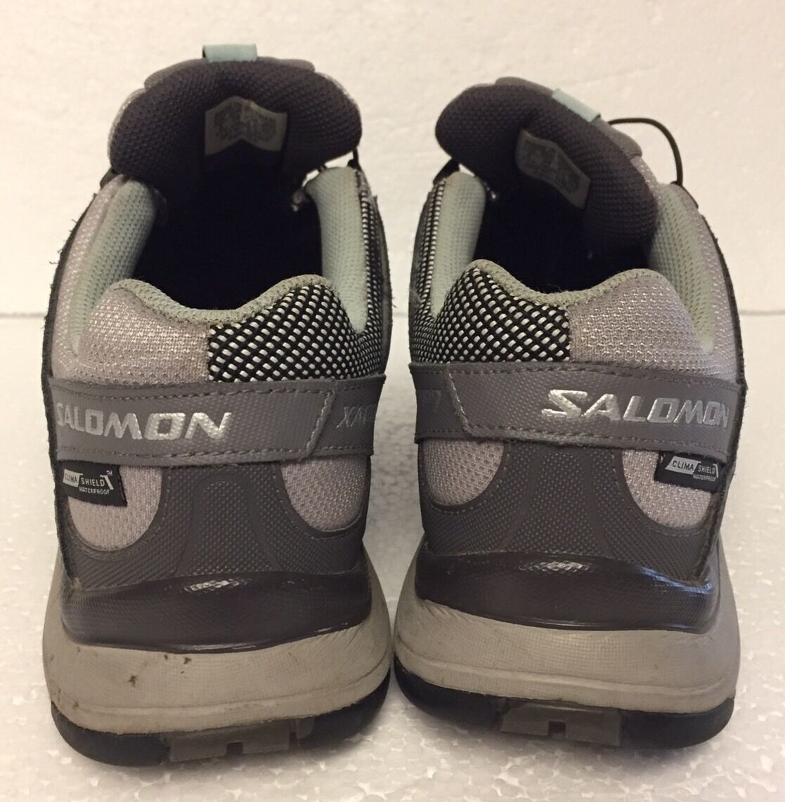 Women's Salomon XA Comp 7 Trail-Running Hiking Athletic Shoes Size 6.5 Gray Teal image 4