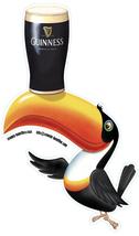 Guinness toucan contoured shaped vinyl self cling window sticker 16x10cm... - $4.50