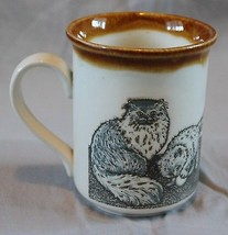 Vintage Cats Kittens Coffee Mug Biltons Made in England Cup Retro Decor - $15.25