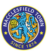 Macclesfield Town FC vinyl sticker shaped contoured football 120mm soccer - $3.35