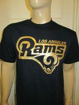 Los Angeles Rams Logo Gold Print T-Shirt / Football NFL Team CA - $16.99+
