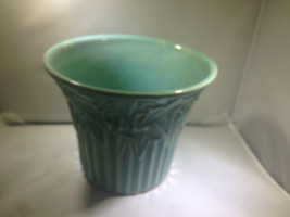 Classic McCoy Jardinere Planter with Leaf Motif - $100.00