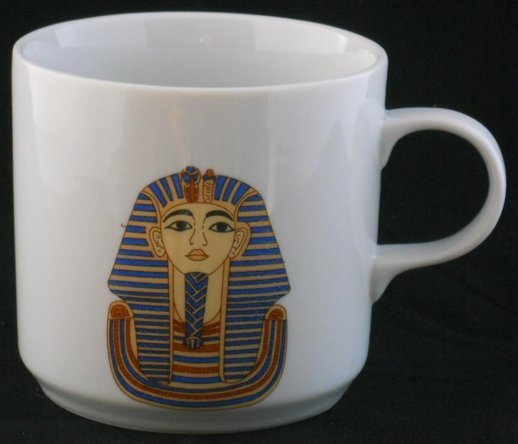 Primary image for Limoges E.G.P. Co. Egyptian King Tut Coffee cup mug