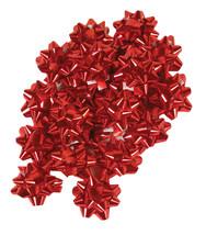 "100pc 2"" Metallic Red Star Bows - $9.72"