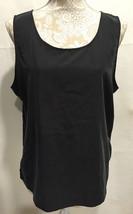 CHICO'S Women Slinky Slip On Sleeveless Charcoal Black Tank Top Blouse S... - $29.32