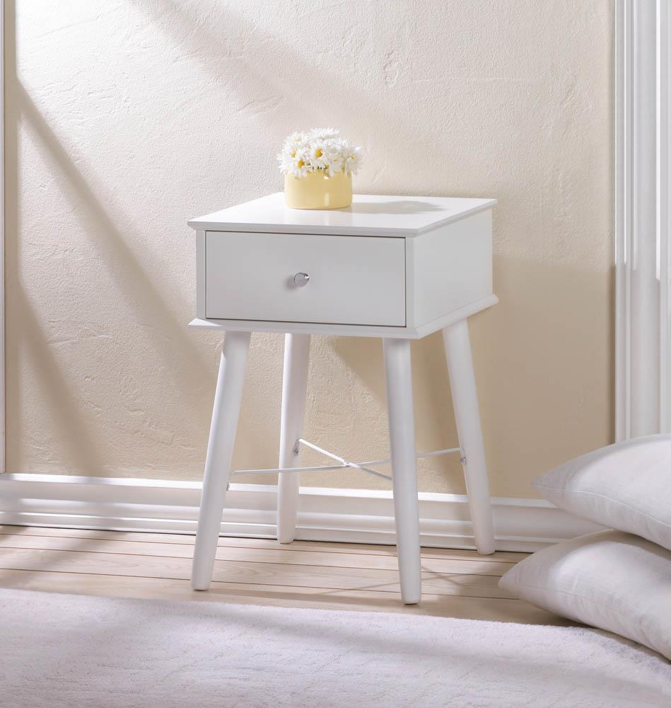 White Side Table : MODERN WHITE SIDE TABLE - Tables