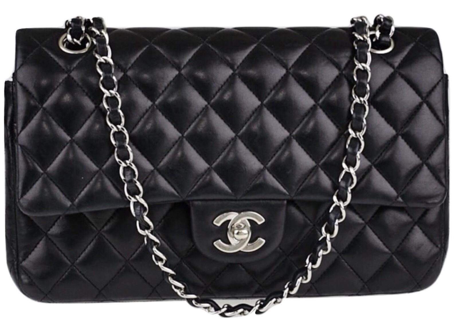 0923edfb07001d Authentic Chanel Black Medium Lambskin Double Flap Bag Shw Handbags.  Authentic Chanel Purse Best Image Ccdbb