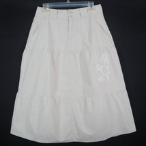 Duck head skirt tiered a line casual lined embroidered off white khaki womens 6 cotton thumb200