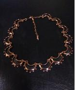 Vintage Signed Renoir Crescent Fashion Copper Modernist Necklace - $90.00