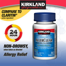 Kirkland Signature AllerClear Loratadine Antihistamine 365 Tablets CHEAP - $22.99