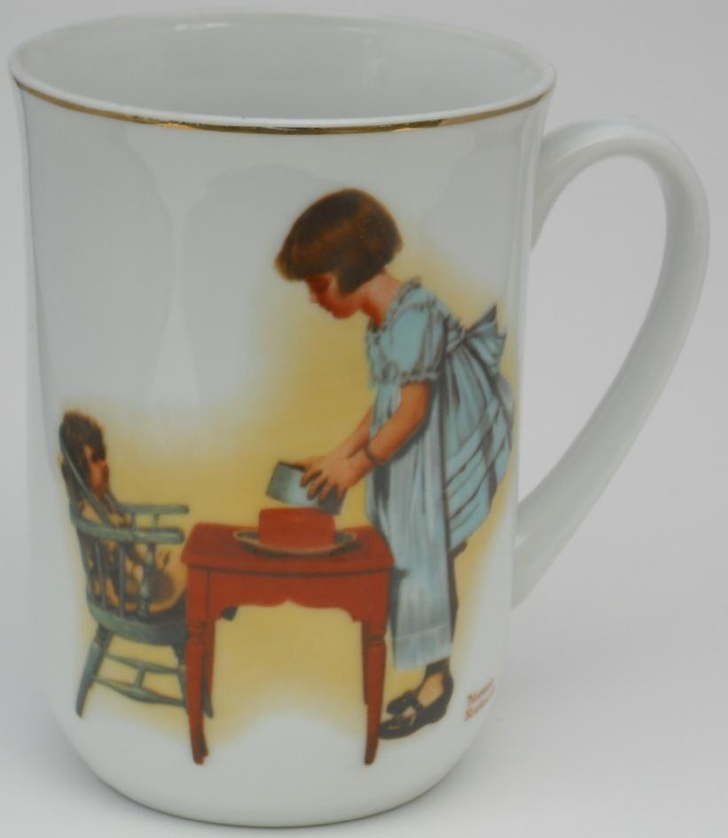 Primary image for NORMAN ROCKWELL PARTY TIME PORCELAIN CUP/ MUG 1981