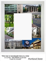 Portland State University Picture Frame Mat Unique Graduation Gift Vikings  - $25.95