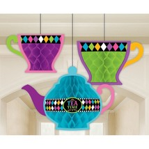 Mad Hatter Theme Party Hanging Decorations; Wonderland Decor, Kit Brand new - $21.73