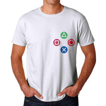 Tee Bangers Controller Buttons Men's White T-shirt NEW Sizes S-2XL - $9.89+