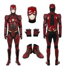 Justice League The Flash Barry Allen Deluxe Halloween Cosplay Costume Ju... - $257.39