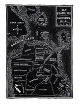 Faribault Woolen Mill Co.VINTAGE CITY MAP WOOL THROW - SAN FRANCISCO  50... - $139.99