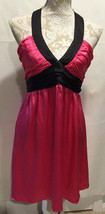 Betsey Johnson Women 100% Silk Fuchia Black Empire Waist Sleeveless Dres... - $477,88 MXN