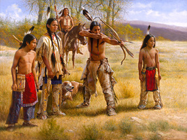 Native American Family Cross Stitch Pattern***L@@K*** - $4.95