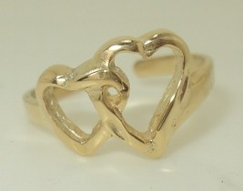 Open Double Heart Toe Ring - $24.95+