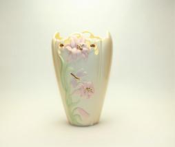 Lenox Porcelain Dragonfly Bees & Lilies Vase La... - $29.70