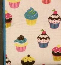 CUPCAKE theme KITCHEN LINENS SET 3-pc Drying Mat Towel Cloth Cupcakes Blue NEW image 2