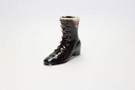 Brown Drip Glaze Vintage Boot Figurine Cake Top - $13.86