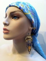 Large Blue Scarf Silk Pink Yellow Purple Lilac Floral Neck Head Accessory - $34.65